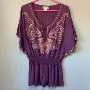 Flying Tomato Peasant Top